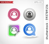 colored icon or button of man... | Shutterstock .eps vector #593789156