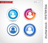 colored icon or button of man... | Shutterstock .eps vector #593789366