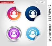 colored icon or button of man... | Shutterstock .eps vector #593789642