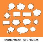 empty vector speech bubbles...   Shutterstock .eps vector #593789825