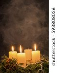 Small photo of advent wreath at christmas