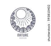 vector logo of nature elements...   Shutterstock .eps vector #593810402
