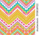 tribal ethnic seamless pattern. ... | Shutterstock .eps vector #593818922