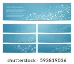set of modern scientific... | Shutterstock .eps vector #593819036