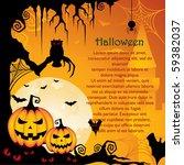 halloween background   Shutterstock .eps vector #59382037