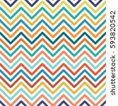 chevron colorful seamless... | Shutterstock .eps vector #593820542