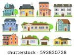 Houses Exterior Vector...