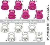 the educational kid matching... | Shutterstock .eps vector #593832272