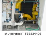 chemical pipe line in engineer...   Shutterstock . vector #593834408