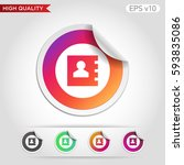 colored icon or button of... | Shutterstock .eps vector #593835086