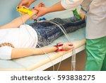 electrocardiogram  cardiac... | Shutterstock . vector #593838275