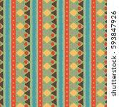 ethnic boho seamless pattern.... | Shutterstock . vector #593847926