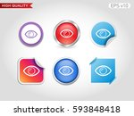 colored icon or button of eye... | Shutterstock .eps vector #593848418