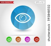 colored icon or button of eye... | Shutterstock .eps vector #593848532