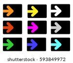 set of arrows. vector... | Shutterstock .eps vector #593849972