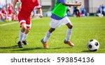 football soccer match for... | Shutterstock . vector #593854136