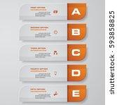 design clean number banners...   Shutterstock .eps vector #593858825