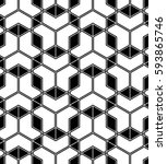 abstract geometric pattern with ... | Shutterstock . vector #593865746