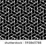 abstract geometric pattern with ... | Shutterstock . vector #593865788