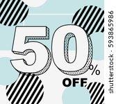 sale 50  off design vector | Shutterstock .eps vector #593865986