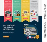 infographic mechanic and car...   Shutterstock .eps vector #593867162