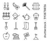garden line icon. gardening... | Shutterstock . vector #593878856