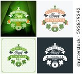 st. patricks day badge design.... | Shutterstock .eps vector #593879342
