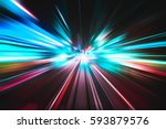 lighting speed effect background | Shutterstock . vector #593879576