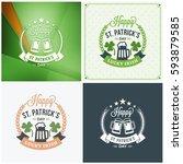 st. patricks day badge design.... | Shutterstock .eps vector #593879585