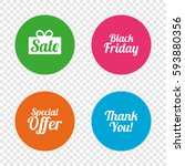 sale icons. special offer and... | Shutterstock .eps vector #593880356
