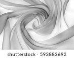 organza fabric in grey color | Shutterstock . vector #593883692