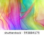 organza fabric in rainbow color | Shutterstock . vector #593884175