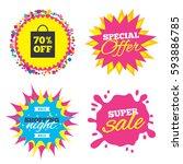 sale splash banner  special... | Shutterstock .eps vector #593886785