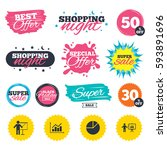 sale shopping banners. special... | Shutterstock .eps vector #593891696