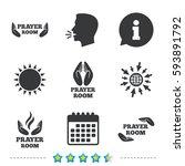 prayer room icons. religion... | Shutterstock .eps vector #593891792