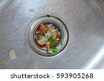 kitchen drain clogging up with... | Shutterstock . vector #593905268