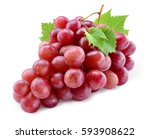 ripe red grape. pink bunch with ...