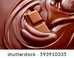 melted hot liquid chocolate... | Shutterstock . vector #593910335