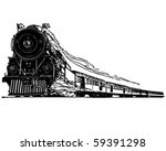 steam locomotive   retro clip... | Shutterstock .eps vector #59391298