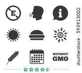 food additive icon. hamburger... | Shutterstock .eps vector #593913002