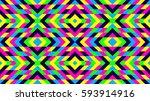 seamless mosaic pattern.... | Shutterstock .eps vector #593914916
