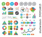 business charts. growth graph.... | Shutterstock .eps vector #593916815