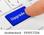 computer notebook keyboard with ... | Shutterstock . vector #593917256