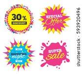sale splash banner  special... | Shutterstock .eps vector #593920496