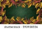 vintage style natural... | Shutterstock .eps vector #593938556