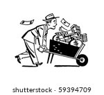 wheelbarrow of cash   retro... | Shutterstock .eps vector #59394709