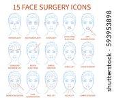 vector illustration  set of 15... | Shutterstock .eps vector #593953898