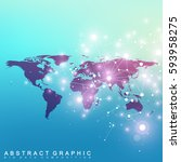 political world map with global ... | Shutterstock .eps vector #593958275