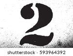 grunge stencil digit overlay... | Shutterstock .eps vector #593964392