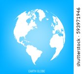 earth globe. view on north and... | Shutterstock .eps vector #593971946